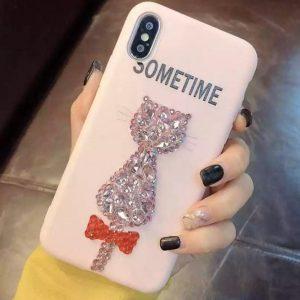 قاب-موبایل-آیفون-طرح-گربه-نکین-صورتی