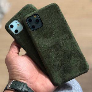 قاب-موبایل-آیفون-مخملی-سبز