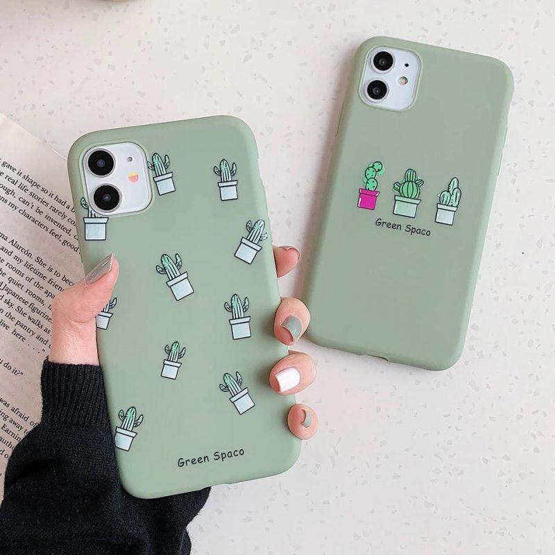 Iphone-case-silicon-cactus-green