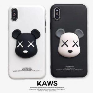 قاب-موبایل-آیفون-خرسک-خرس-سسامی-مشکی-سفید