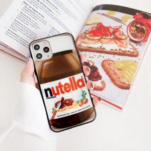 قاب-موبایل-آیفون-طرح-شکلات-نوتلا