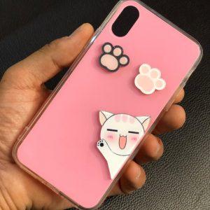 قاب-موبایل-آیفون-طرح-گربه-شیشهای