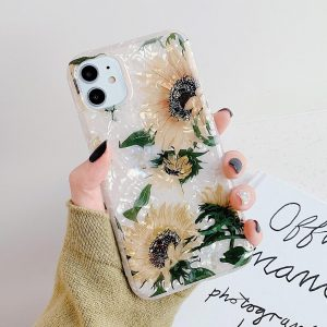 قاب-موبایل-آیفون-طرح-گل-آفتابگردان-پلاستیک