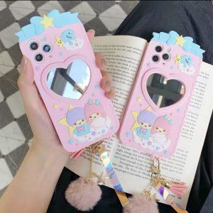 قاب-موبایل-آیفون-طرح-فرشته-کوچولو-آینه-دار