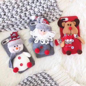 قاب-موبایل-آیفون-طرح-کریسمس-پارچهای