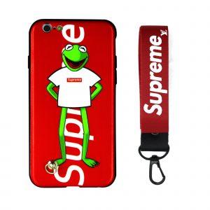 قاب-موبایل-آیفون-سوپریم-قورباغه-فراگ-بند-قرمز