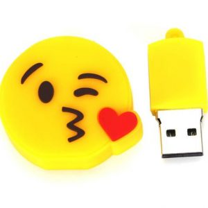 فلش-طرح-USB-سیلیکون-پلاستیک-زرد