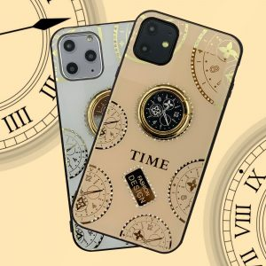 قاب-موبایل-آیفون-ساعت-شیشه-نگین