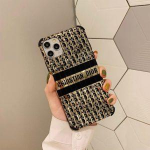 قاب-موبایل-آیفون-دیور-طلایی-مشکی-ژلهای-براق