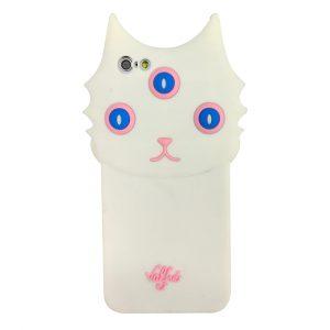 قاب-موبایل-آیفون-گربه-سه-چشم-والفره-سفید