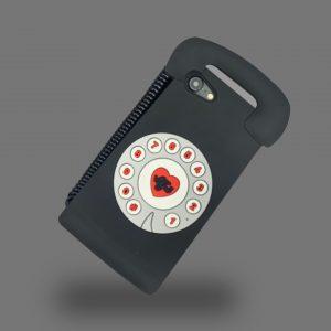 قاب-آیفون-تلفن-قدیمی-سیلیکون-مشکی